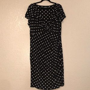 Polka Dot Rouched Dress